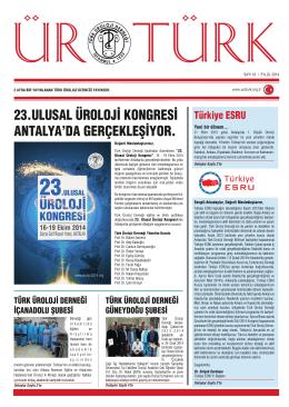 SAYI 16 - Türk Üroloji Derneği