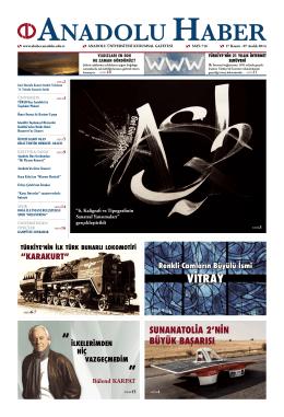 VİTRAY - Anadolu Haber Gazetesi
