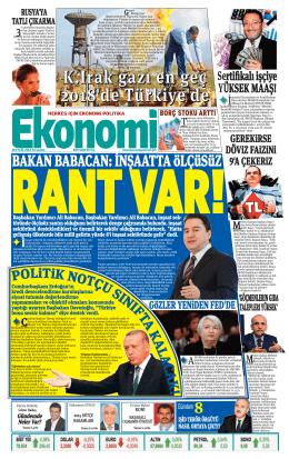 18 eylül 2014 - Ekonomi Gazetesi