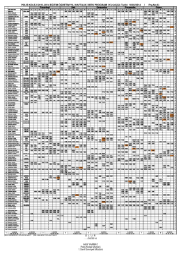 Yürürlülük Tarihi: 10/03/2014 / Prg.No