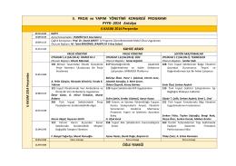 PYYK 2014 Kongre Programı (Detaylı)