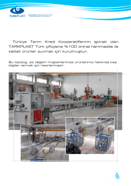 Tk Plastik - Modern Sulama Sistemleri