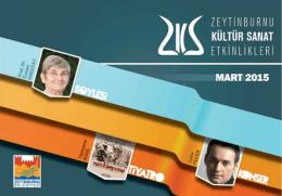 E-Dergi Mart 2015 - Zeytinburnu Kültür Sanat