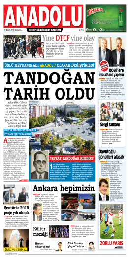 2 Nisan 2015 - Anadolu Gazete