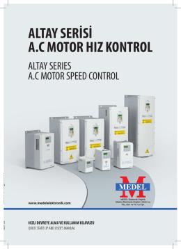 AC Altay Vektör Sürücüleri Kullanım Klavuzu