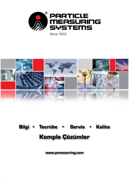 Particle Measuring Systems Genel Katalog 2014