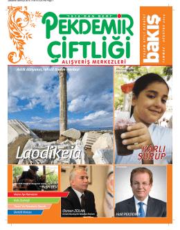 Temmuz 2014 - Pekdemir Çiftliği