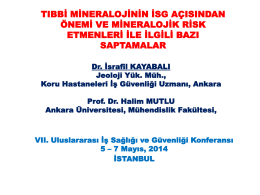 Tıbbi Mineraloji