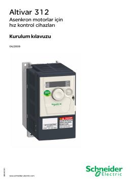 Schneider Elektrik Altivar312 Montaj Katalog