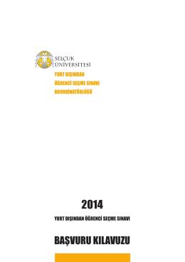 SÜYÖS-2014 / Başvuru Kılavuzu