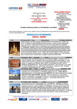 . MOSKOVA-ST.PETERSBURG . RUSYA GEZİSİ