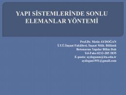 Prof. Dr. Metin AYDOĞAN