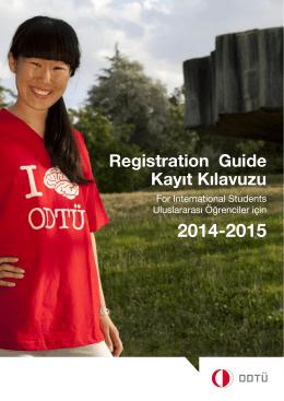 Registration Guide Kayıt Kılavuzu