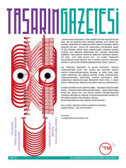 Tasarım Gazetesi Şubat sayısı için