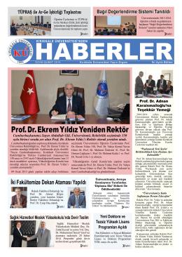 Prof. Dr. Ekrem Yıldız Yeniden Rektör