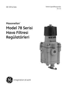 Model 78 Serisi Hava Filtresi Regülatörleri