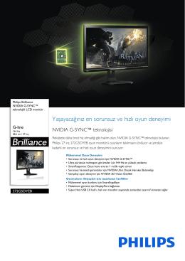 272G5DYEB/00 Philips NVIDIA G-SYNC™ teknolojili LCD monitör