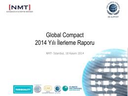 Global Compact 2014 Yılı İlerleme Raporu
