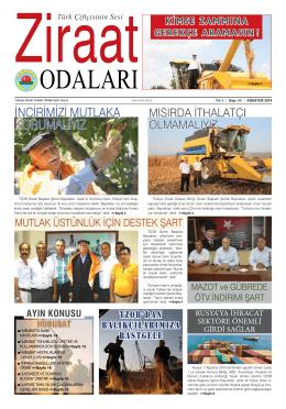 Ağustos - Türkiye Ziraat Odaları Birliği