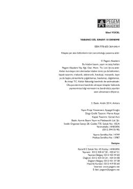 Sibel YÜCEL YABANCI DİL SINAVI 10 DENEME ISBN