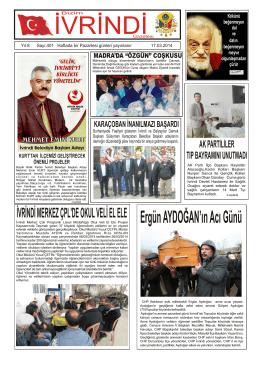 sayfa 1 - İvrindi Gazetesi