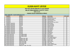 elden kayıt listesi