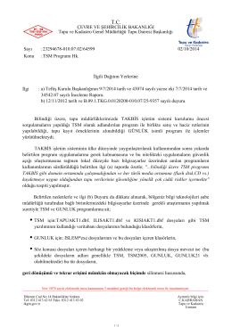 TSM Programı Hakkında - Tapu ve Kadastro Genel Müdürlüğü