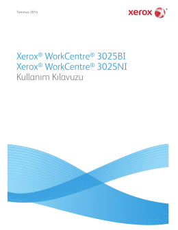 Xerox® WorkCentre® 3025BI Xerox® WorkCentre® 3025NI