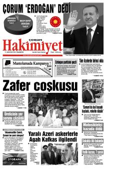 (11 a\360ustos.qxd) - Çorum Hakimiyet Gazetesi