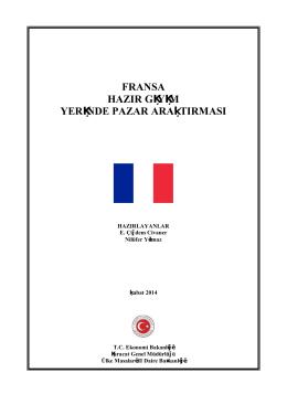 FRANSA HAZIR GİYİM YERİNDE PAZAR ARAŞTIRMASI