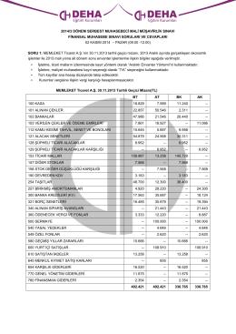 2012/2 smmm sınavı