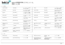 多言語例文集: ビジネス | メール (英語
