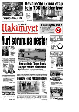 (27 eyl\374l.qxd) - Çorum Hakimiyet Gazetesi