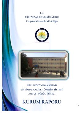 KU URU UM R RAP POR RU - Milli Eğitim Bakanlığı