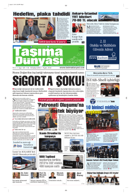 Taşıma Dünyası Gazetesi-125-PDF 10 Şubat 2014 tarihli sayısını
