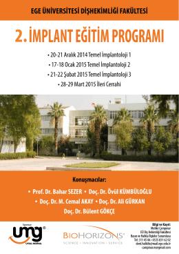 2. implant eğitim programları - Ege Üniversitesi Diş Hekimliği Fakültesi