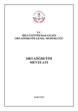 ortaöğretim mevzuatı - Ortaöğretim Genel Müdürlüğü