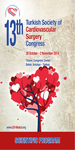 13thTurkish Society of Cardiovascular Surgery Congress