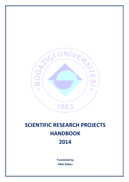 to access the Scientific Research Projects Handbook 2014
