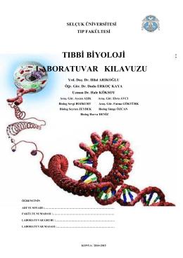 Tıbbi Biyoloji Anabilim Dalı Öğrenci Laboratuvarı Çalışma Kılavuzu