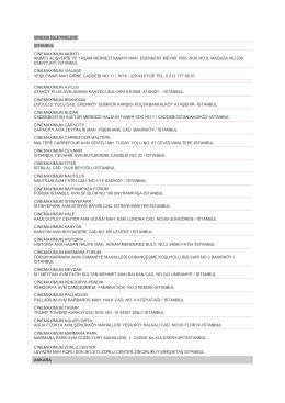 Cinemaximum sinemalarının listesi