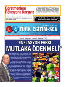 Genel Başkan İsmail KONCUK - Türk Eğitim-Sen