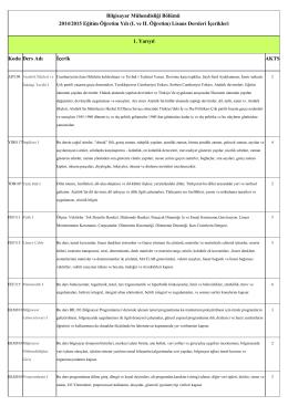 Lisans Ders İçerikleri - Kocaeli Üniversitesi Bilgisayar Mühendisliği