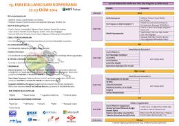 19. esrı kullanıcıları konferansı 22-23 ekim 2014