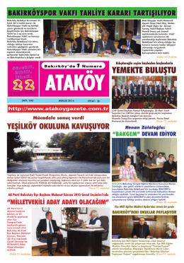 YEMEKTE BULU*TU - Ataköy Gazetesi