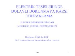 Elektrik Tesislerinde Dolaylý Dokunmaya Karþý Topraklama