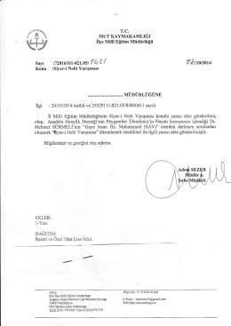 2 *ııonoıq - mersin - mut ilçe millî eğitim müdürlüğü