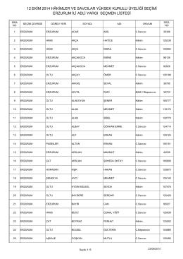 erzurum ili adli yargı seçmen listesi 12 ekim 2014 hâkimler ve