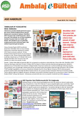 PowerPoint Sunusu - Ambalaj Sanayicileri Derneği