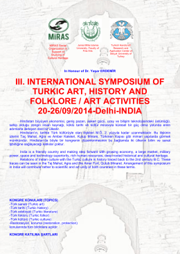 III. INTERNATIONAL SYMPOSIUM OF TURKIC ART